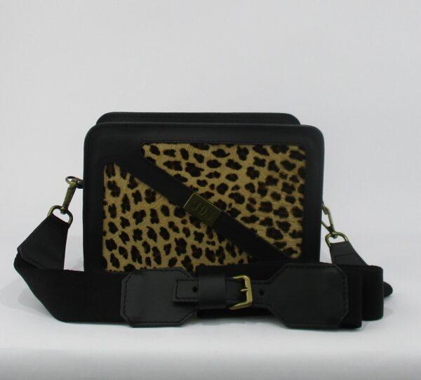 bandolera de pelo leopardo