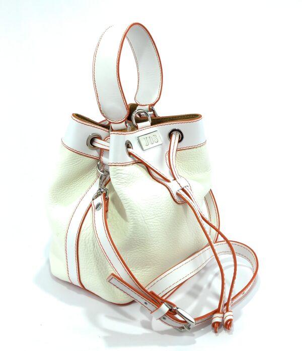 bolsos bombonera de piel blanco