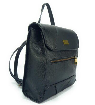 mochilas de piel negra