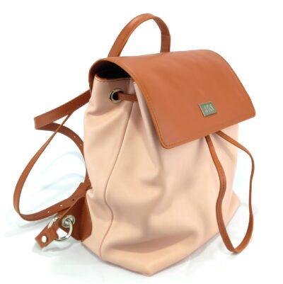 mochila de piel lisa