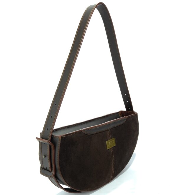 bolso de piel ante marrón